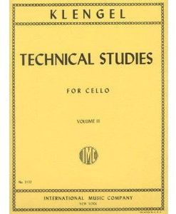 Klengel, Julius Technical Studies, Volume 2 Cello solo edited by Leonard Rose - International